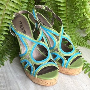 Moda Spana Strappy Platform Wedge Sandal